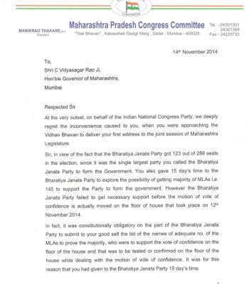Letter to Hon. Governor Page No. 1